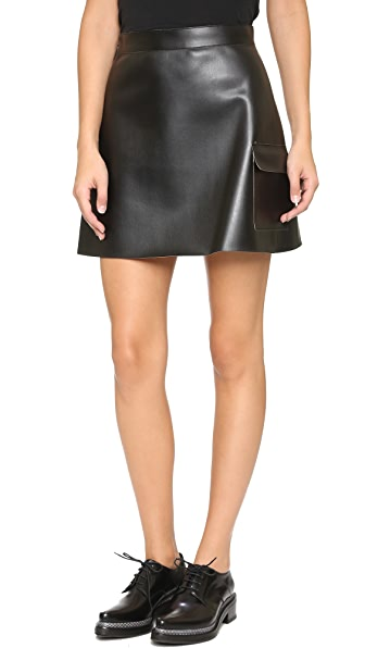 MSGM Faux Leather Skirt