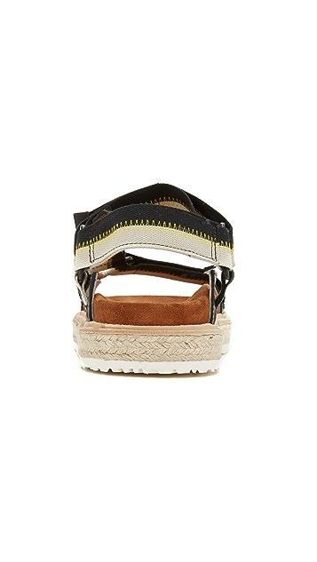 MSGM 2 Strap Outdoor Sandals