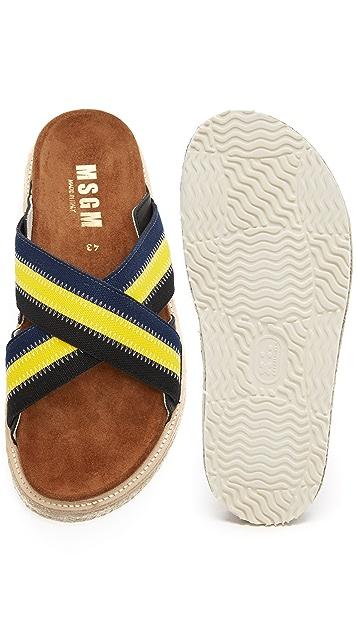 MSGM Slide Outdoor Sandals