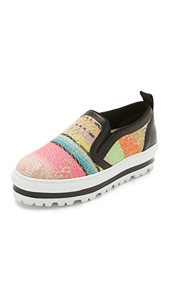 MSGM Slip On Wedge Sneakers