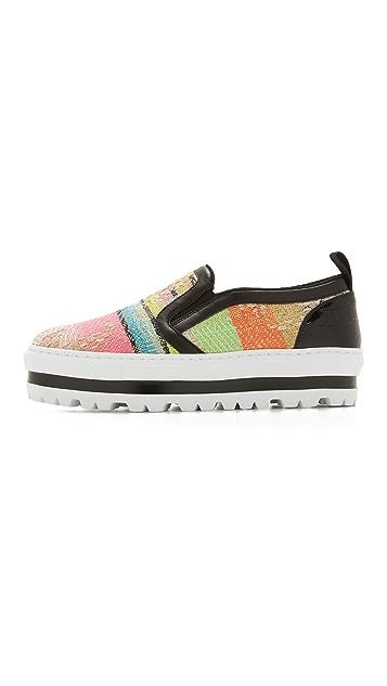 MSGM Slip On Wedge Sneakers