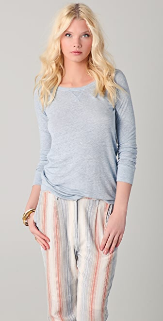 Majestic Long Sleeve Linen Tee