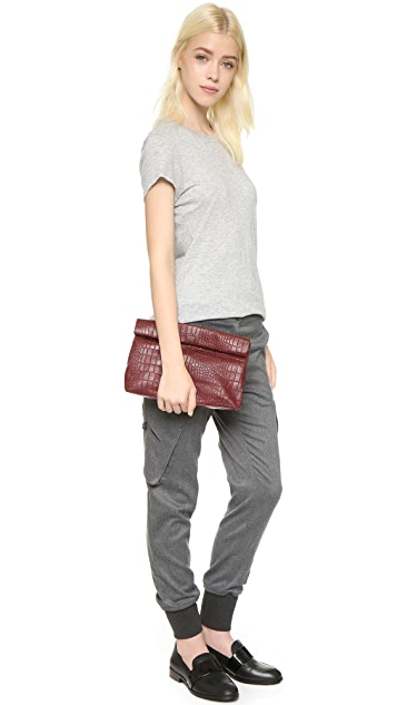 Marie Turnor Accessories Croc Embossed Lunch Clutch
