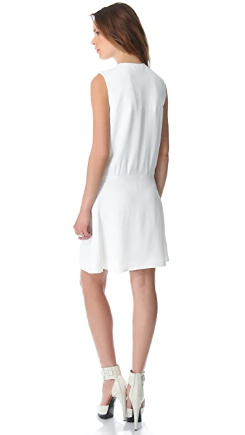 Mugler Sleeveless Origami Dress