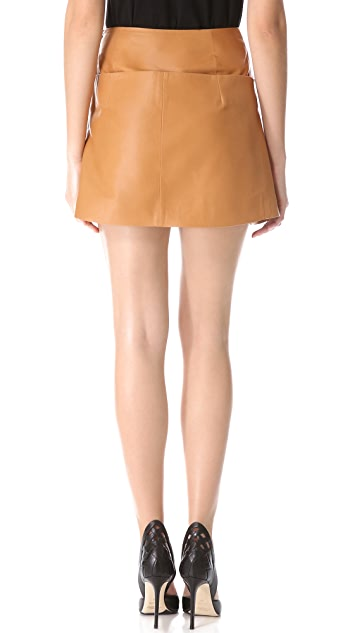 Mugler Origami Leather Skirt