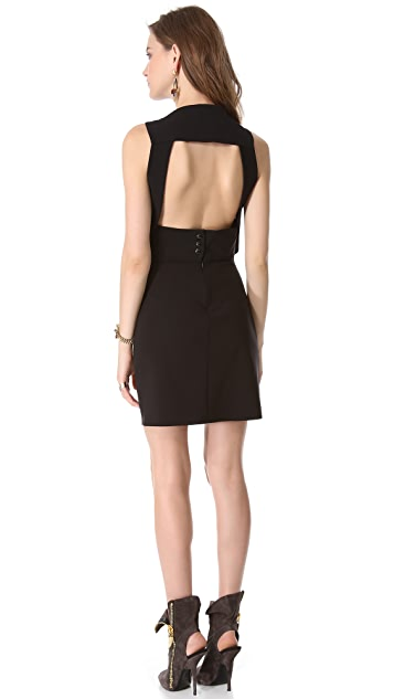 Mugler Keyhole Backless Dress