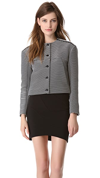 Mugler Knit Rib Cropped Jacket