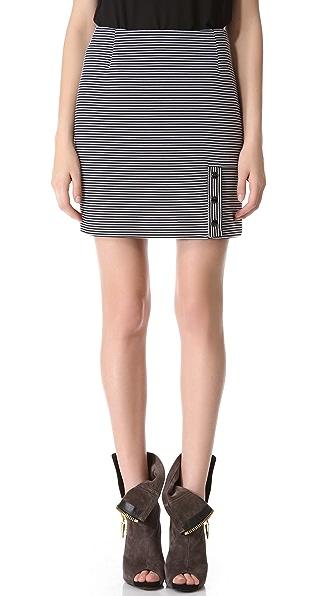 Mugler Knit Rib Miniskirt
