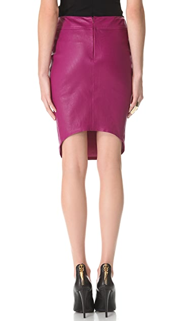 Mugler Leather Skirt