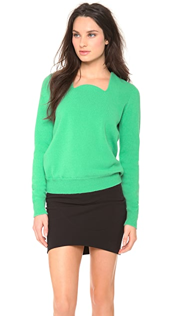 Mugler Scoop Neck Sweater
