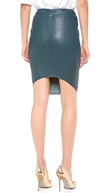 Mugler Stretch Leather Pencil Skirt