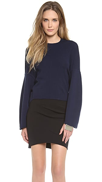 Mugler Oversized Knit Sweatshirt