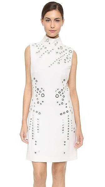 Shop Mugler online and buy Mugler Sleeveless Dress Natural dress online
