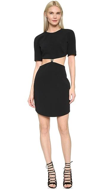 Mugler Short Sleeve Cutout Dress