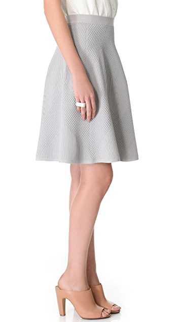 MAISON ULLENS Embossed Knit Skirt