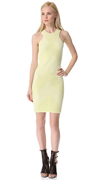 MAISON ULLENS Embossed Knit Tank Dress