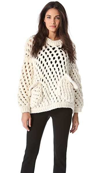MAISON ULLENS Crochet Knit Sweater