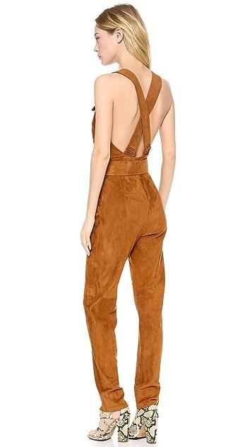 MAISON ULLENS Leather Jumpsuit
