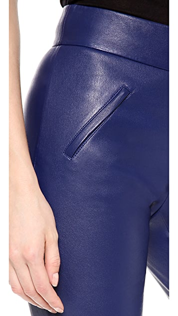 MAISON ULLENS Stretch Leather Pants