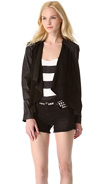 Muubaa Louis Draped Biker Jacket