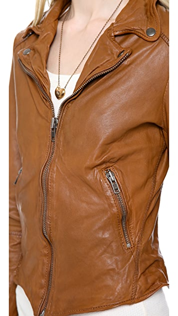 Muubaa Sabi Leather Biker Jacket