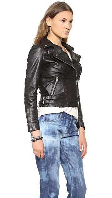 Muubaa Leather Biceta Biker Jacket