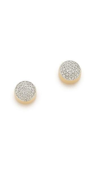 Monica Vinader Ava Button Stud Earrings