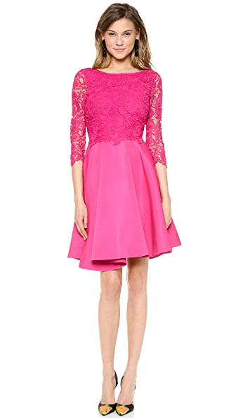 Marchesa Voyage Guipure Lace Dress
