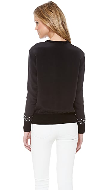 Marchesa Voyage Star Studded Sweatshirt