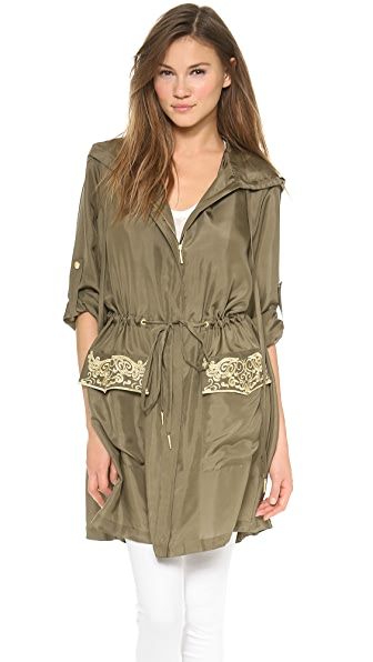 Marchesa Voyage Embroidered Parka