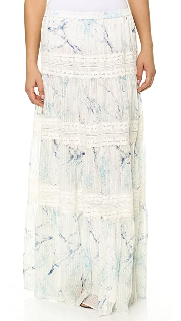 Marchesa Voyage Tiered Maxi Skirt