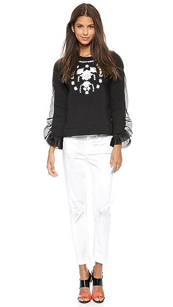 Marchesa Voyage Embroidered Sweatshirt