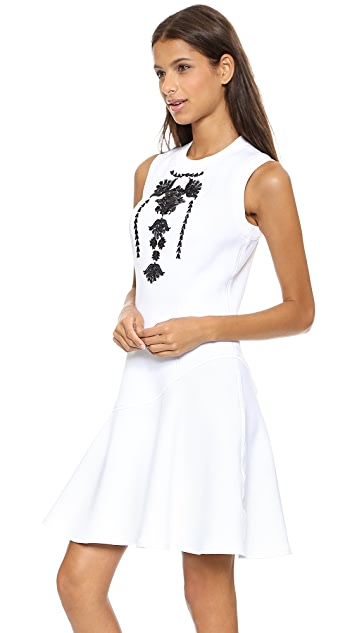 Marchesa Voyage Embroidered Sleeveless Dress
