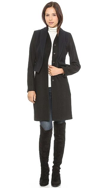 Marchesa Voyage Peplum Coat
