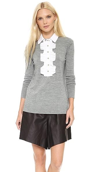 Marchesa Voyage Ruffle Front Sweater
