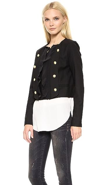 Marchesa Voyage Pleated Front Jacket