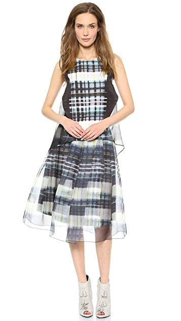 Marissa Webb Harriet Window Plaid Top