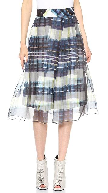 Marissa Webb Carine Window Plaid Skirt