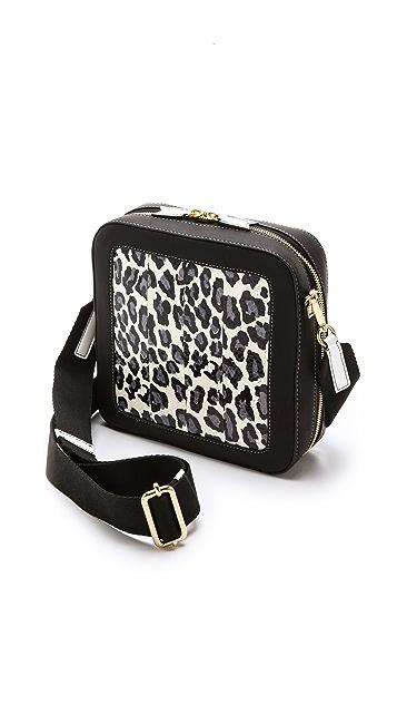 Meredith Wendell Square Snakeskin Bag