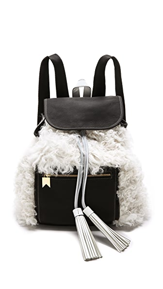 Meredith Wendell Shearling Backstroke Backpack