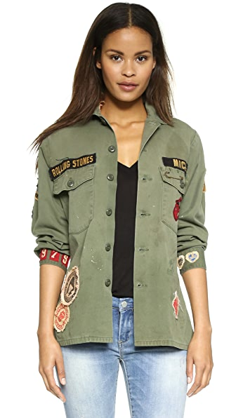 MADEWORN ROCK Rolling Stones 1975 Army Jacket