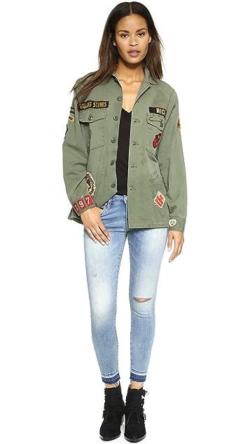 MADEWORN ROCK Rolling Stones 1975 Army Jacket