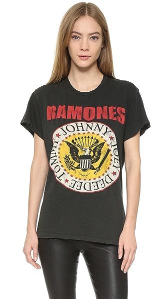 MADEWORN ROCK Ramones1979 Printed Tee - Dirty Black