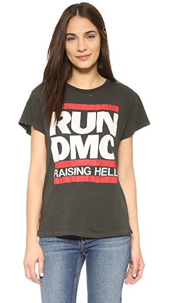 MADEWORN ROCK Run DMC Raising Hell Tee In Dirty Black