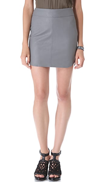 Myne Milo Faux Leather Skirt