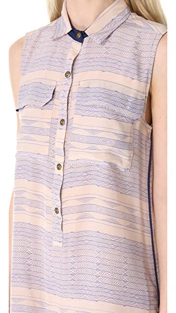 Myne Lane Sleeveless Shirtdress