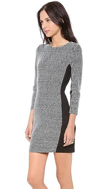 Myne Jett Fitted 3/4 Sleeve Dress