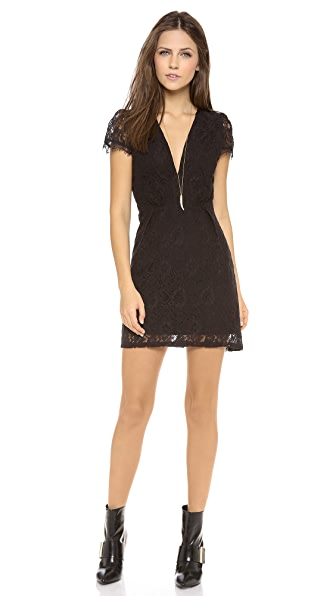 Myne Hayden V Neck Lace Dress