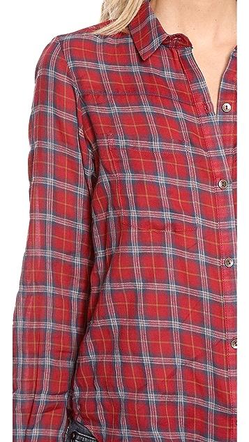 Myne Long Sleeve Boyfriend Button Up