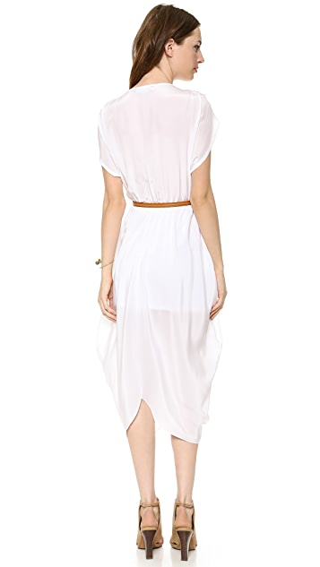 Myne Heidi Belted V Neck Dress